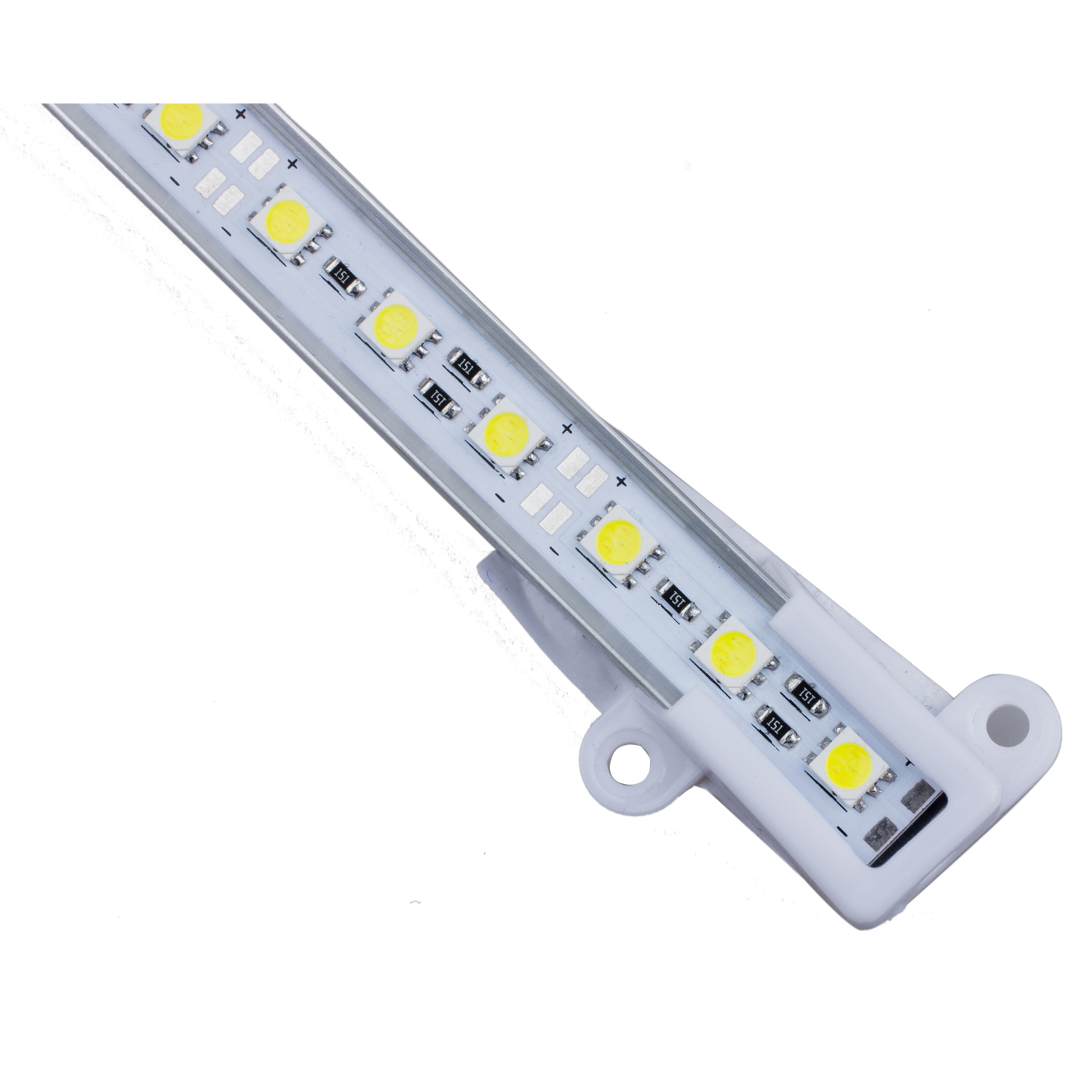50 cm 5050 smd 36 led warmweiss aluminium starre strip bar licht lampe et ebay. Black Bedroom Furniture Sets. Home Design Ideas