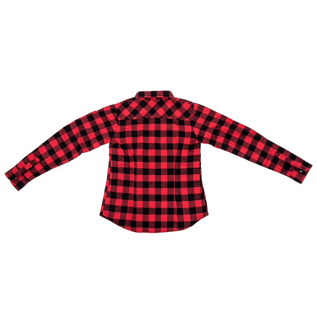 Womens shirt flannel shirts tops blouse red black m shd1 Womens red plaid shirts blouses
