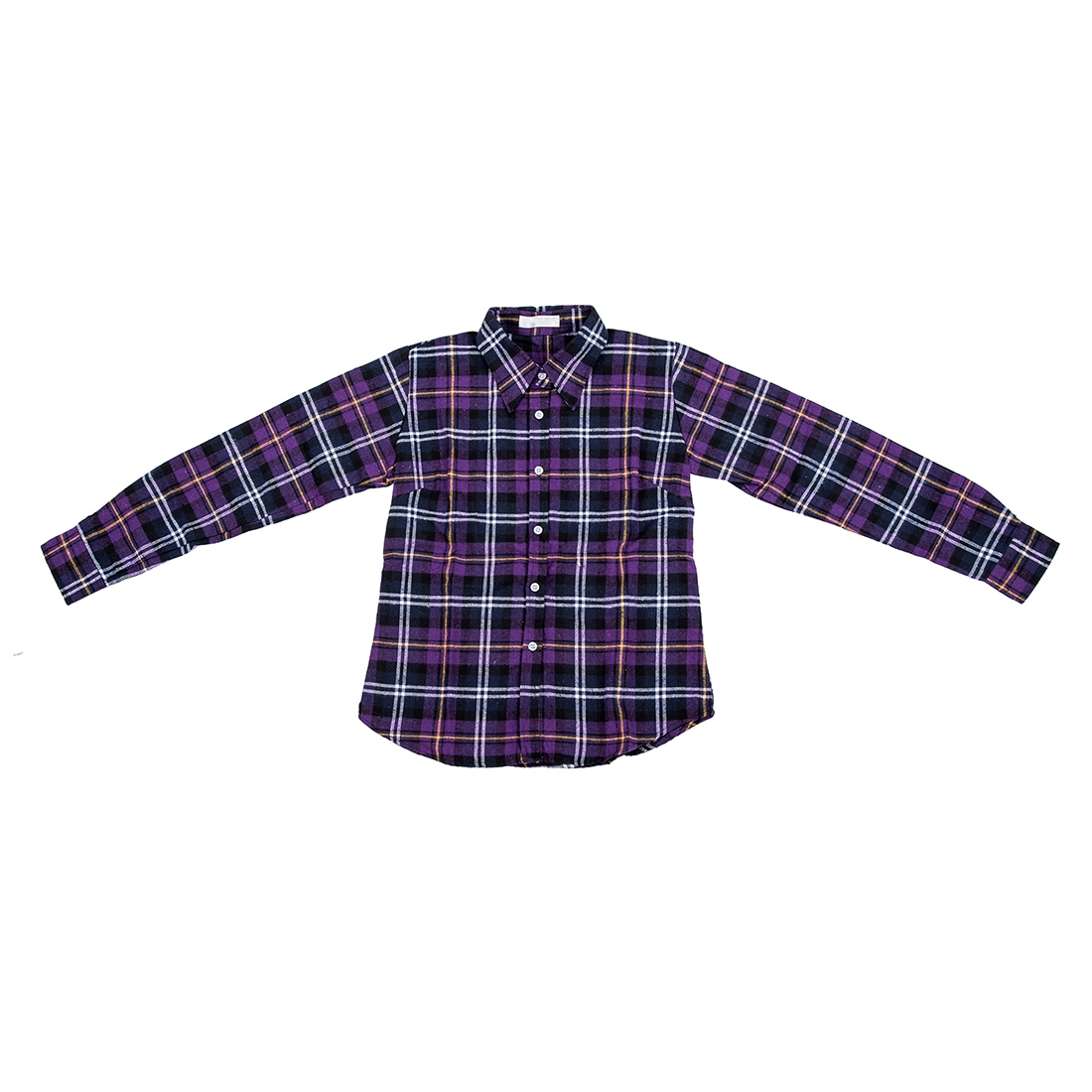 Womens shirt flannel shirts tops blouse purple white l shh2 for White and black flannel shirt womens