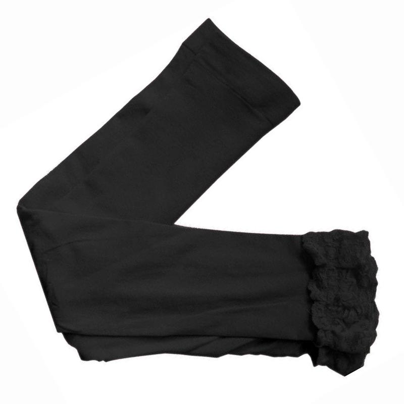 Mode-Maedchen-Spitzen-Leggings-Kinder-Candy-Farbe-Cute-Kinder-Pure-Leggings-F3L5 Indexbild 2