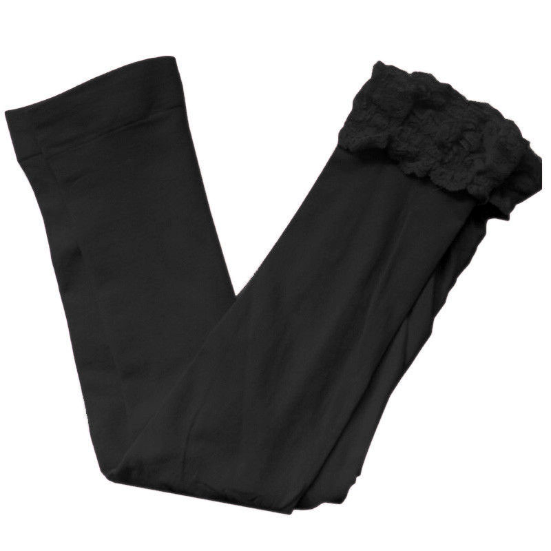 Mode-Maedchen-Spitzen-Leggings-Kinder-Candy-Farbe-Cute-Kinder-Pure-Leggings-F3L5