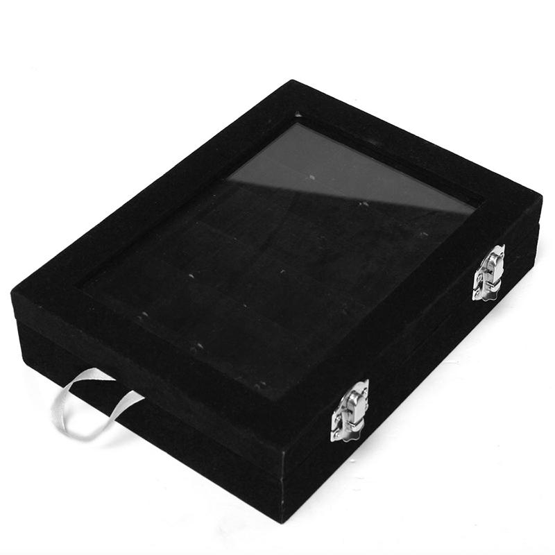 24-grille-Presentoir-Boite-a-Bijoux-Rangement-Verre-pour-Montre-Bracelet-Bouc-93 miniature 3