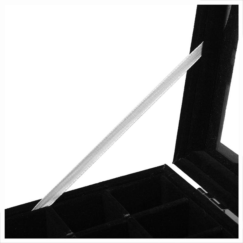 24-grille-Presentoir-Boite-a-Bijoux-Rangement-Verre-pour-Montre-Bracelet-Bouc-93 miniature 4