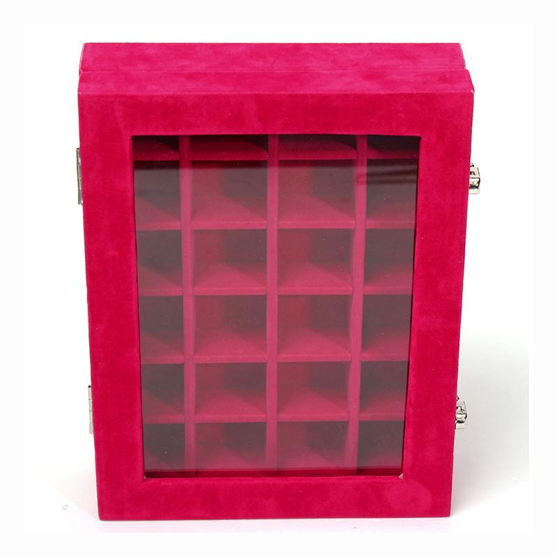 24-grille-Presentoir-Boite-a-Bijoux-Rangement-Verre-pour-Montre-Bracelet-Bouc-93 miniature 6