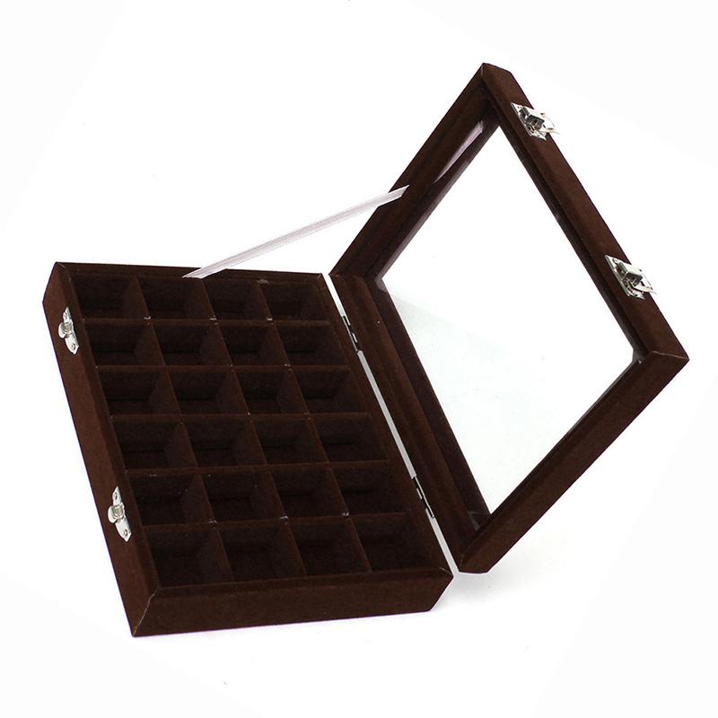 24-grille-Presentoir-Boite-a-Bijoux-Rangement-Verre-pour-Montre-Bracelet-Bouc-93 miniature 9