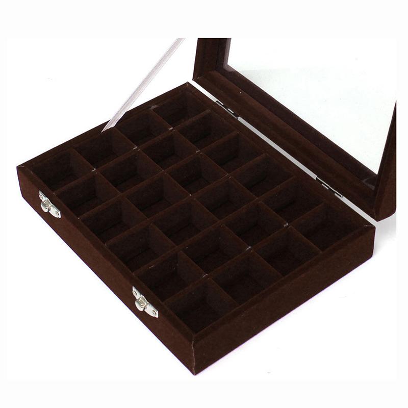 24-grille-Presentoir-Boite-a-Bijoux-Rangement-Verre-pour-Montre-Bracelet-Bouc-93 miniature 10