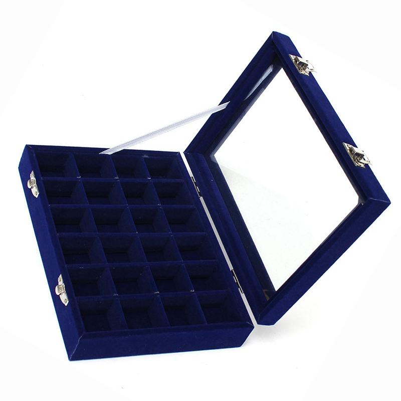 24-grille-Presentoir-Boite-a-Bijoux-Rangement-Verre-pour-Montre-Bracelet-Bouc-93 miniature 12
