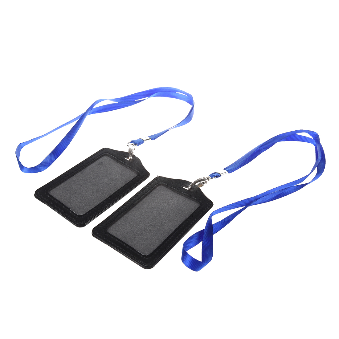 Faux leather business id badge card vertical holders 2 pcs w4w7 ebay faux leather id badge card holder is a great choice for workers to hold their id card work card business cards etc reheart Choice Image