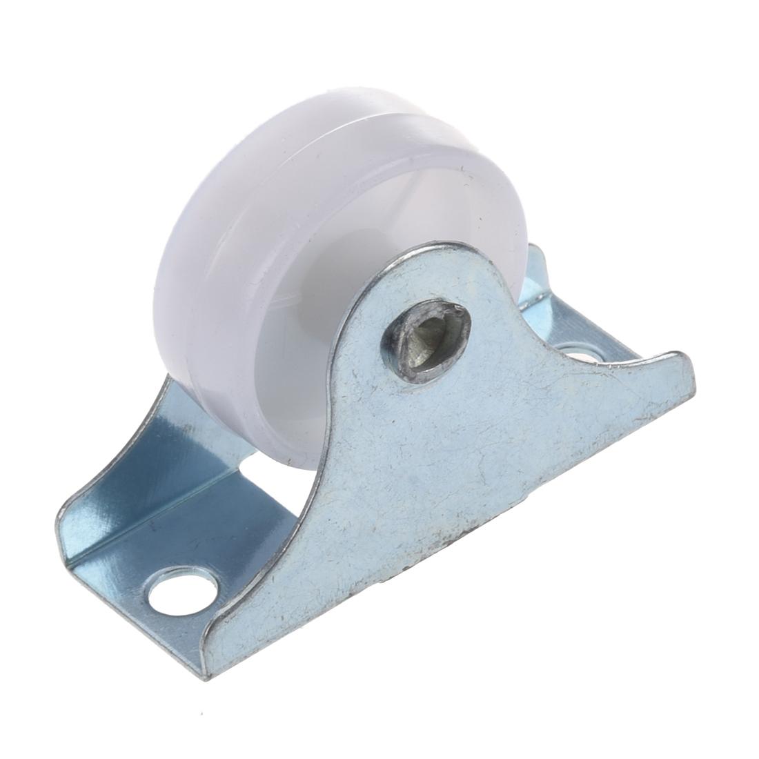 4pcs Practical White Plastic25mm Diameter Furniture