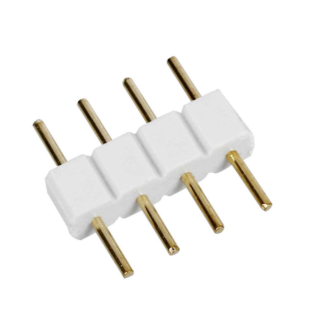 5x Stecker zu Stecker 4-polig RGB Kabel Steckverbinder fur LED Streifen W C9X8