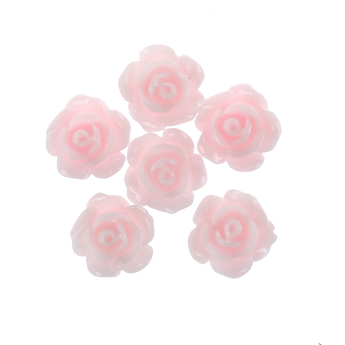 20 Stuecke 3D Rosa Kleine Blumen mit Strass Nagel Kunst Dekoration ...