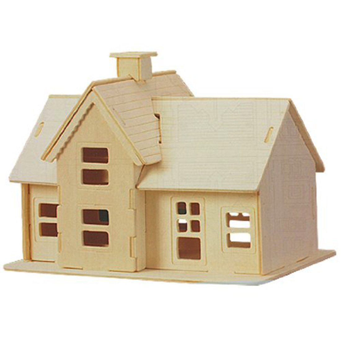 New children 3d wooden country station model puzzle toy - Jeu de construction de maison virtuel ...
