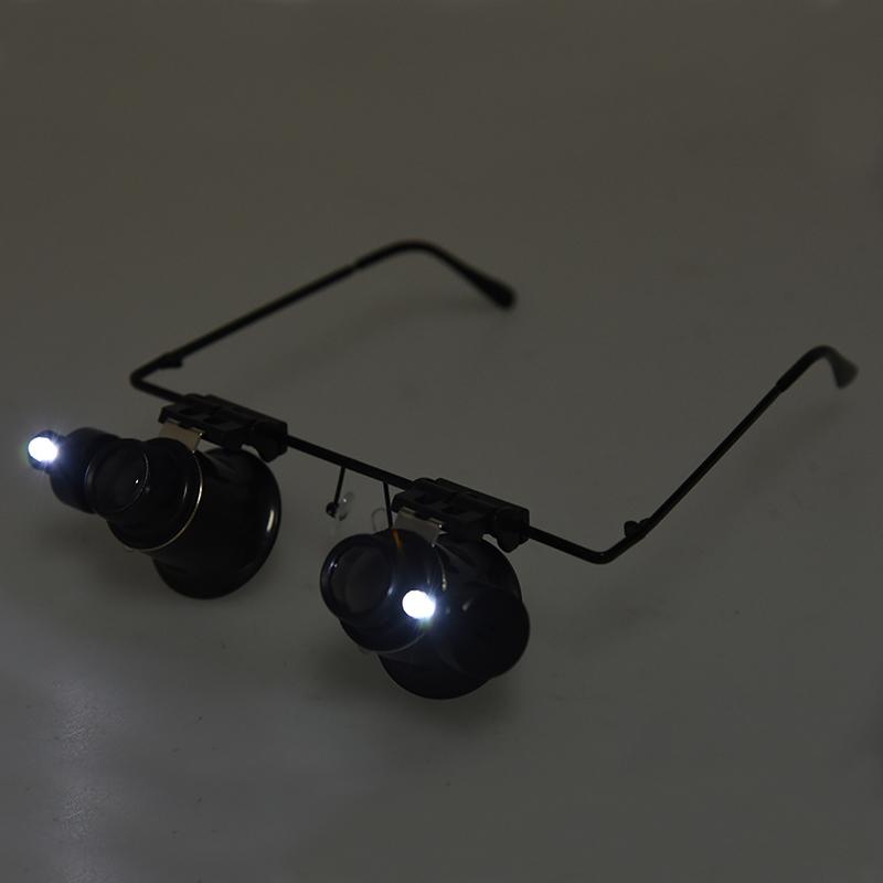 Loupe a lunettes 20X avec lumiere LED Noir Y5H8