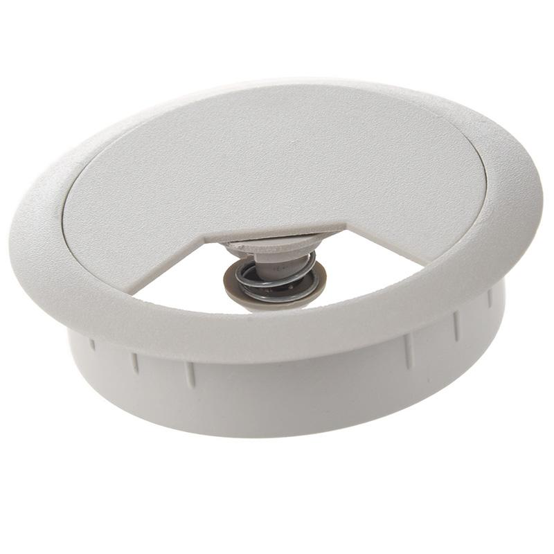 Plastic Computer Desk Grommet Cable Hole Cover - Gray Op LS P3l3 ...