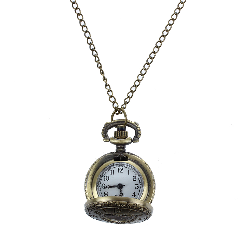 Cut-Out-Heart-Hunter-Case-Necklace-Pocket-Watch-Bronze-Tone-For-Ladies-P1Y2