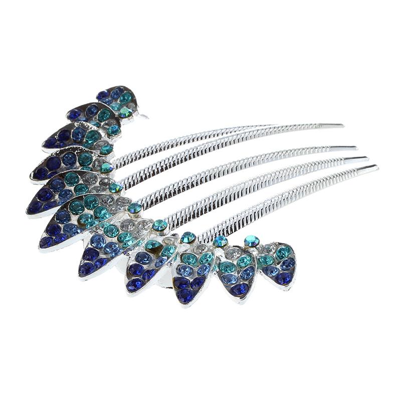 Bandeau A Cheveux Diamant Bleu En Forme De Peigne P6e6 2019 New Style 1x Bracing Up The Whole System And Strengthening It