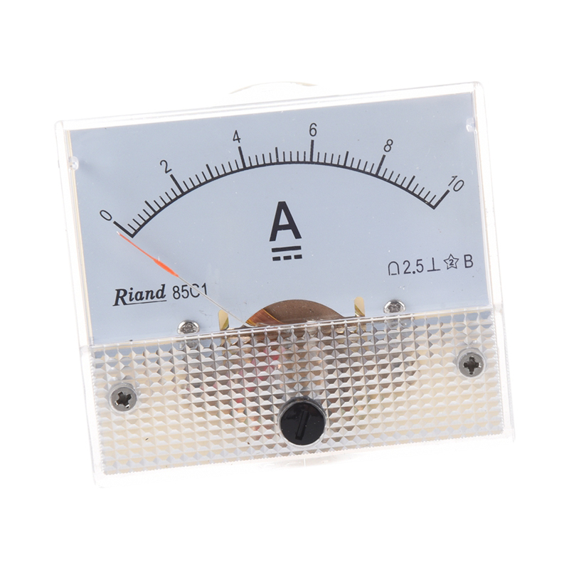 85C1-DC-0-10A-Rectangle-Analog-Panel-Ammeter-Gauge-C4D9