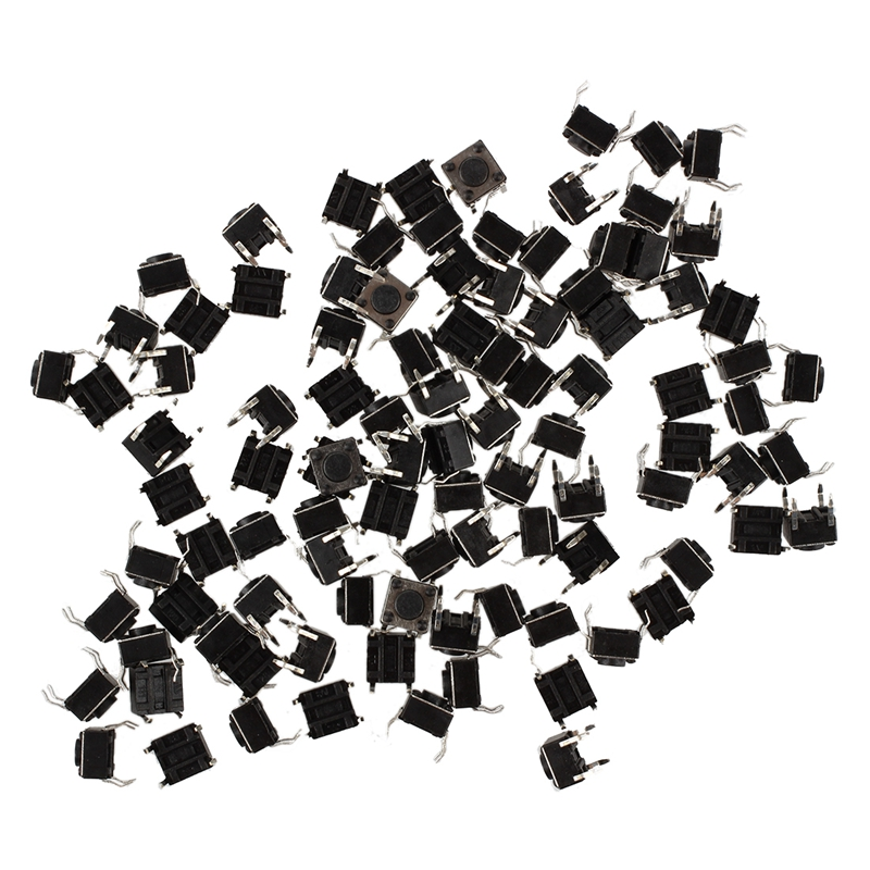 100Pcs-Momentary-Panel-PCB-Tactile-Tact-Push-Button-Switch-4Pin-6x6x4-5mm-TS