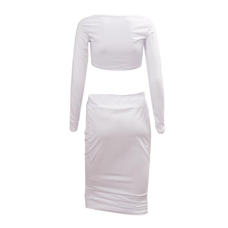 Sexy-robe-ensemble-de-deuxa-manches-longues-de-femme-pour-Party-Club-Veste-A5U5 miniature 6