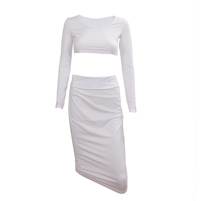 Sexy-robe-ensemble-de-deuxa-manches-longues-de-femme-pour-Party-Club-Veste-A5U5 miniature 5