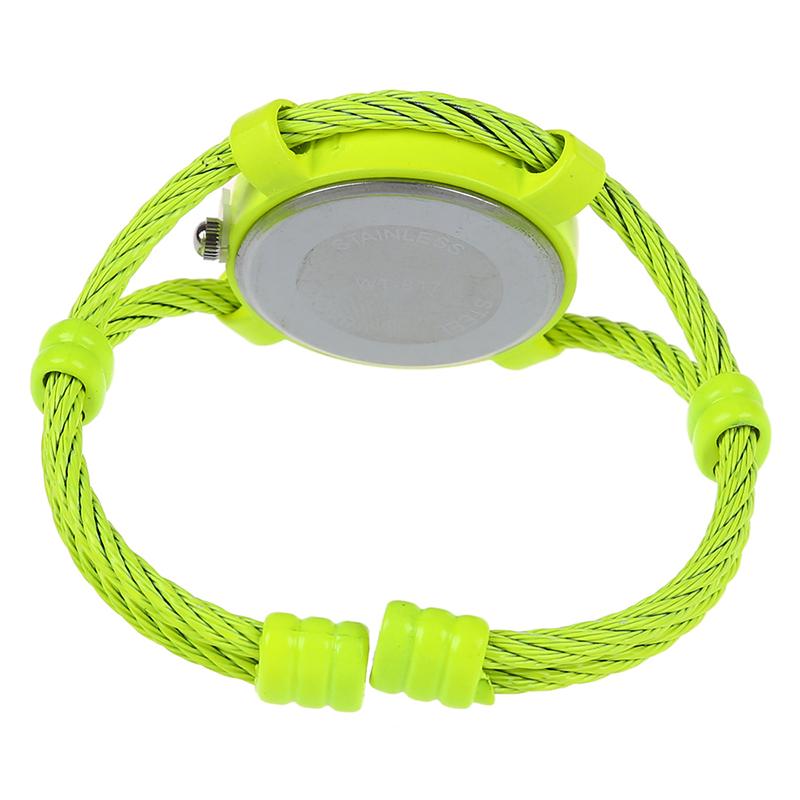 Sur Cussi Cristal I4c8 Jaune Fluorescen Fil D'acier Bracelet Détails Quartz Montre CBWQdxoerE