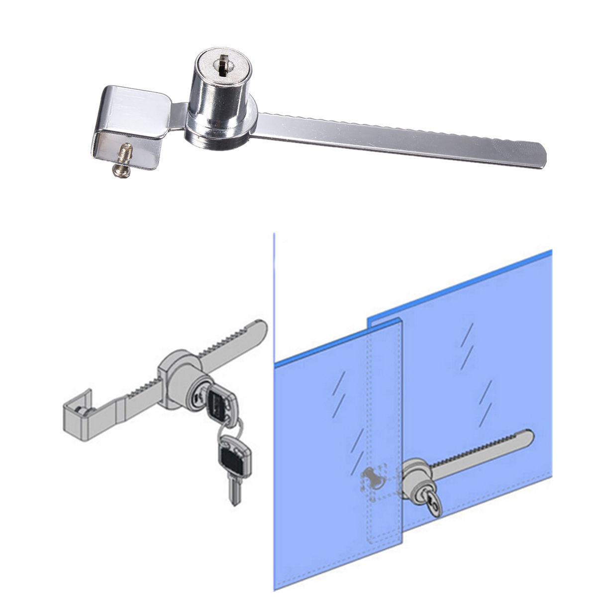 2 Keys Keyed Alike Display Case Showcase Lock Sliding