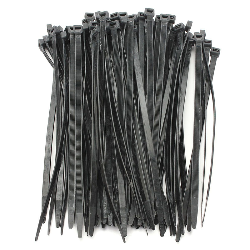 100PCS Strong Cable Ties / Tie Wraps Zip Ties Color:Black Size:5*370mm M2V2 T8H3