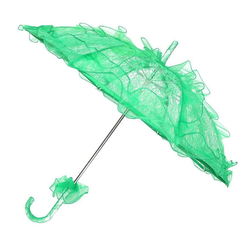 Dentelle-Ombrelle-De-Mariee-Fleur-Lace-Mariage-Mariee-Parapluie-Parasol-Z3M4 miniature 6