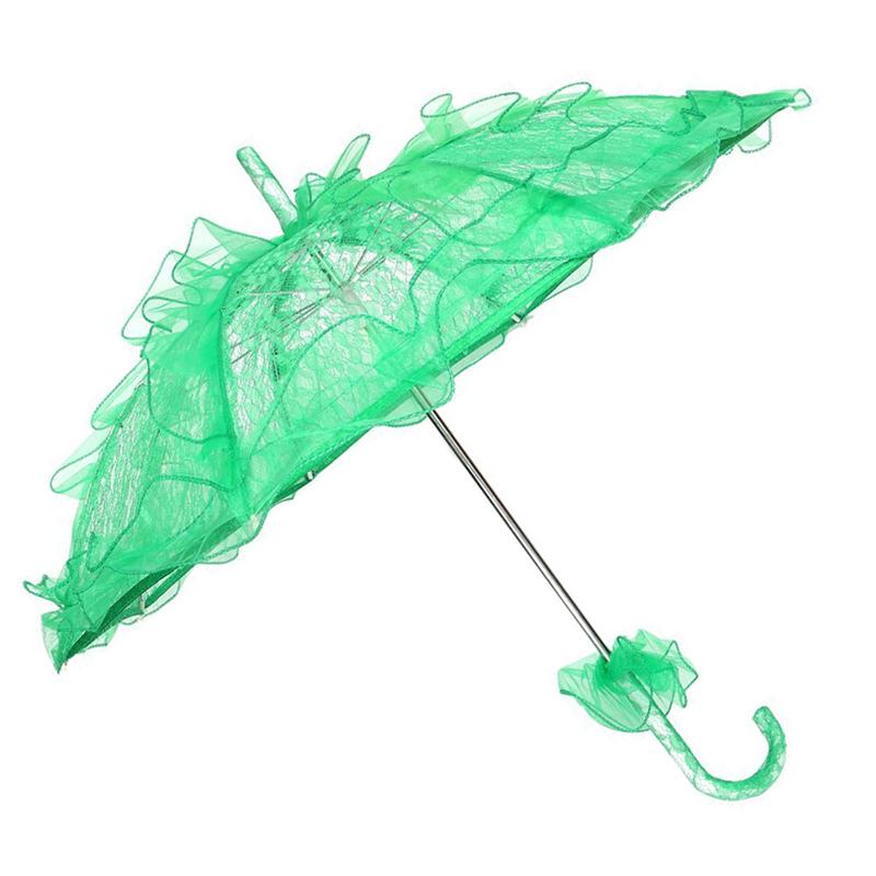 Dentelle-Ombrelle-De-Mariee-Fleur-Lace-Mariage-Mariee-Parapluie-Parasol-Z3M4 miniature 7