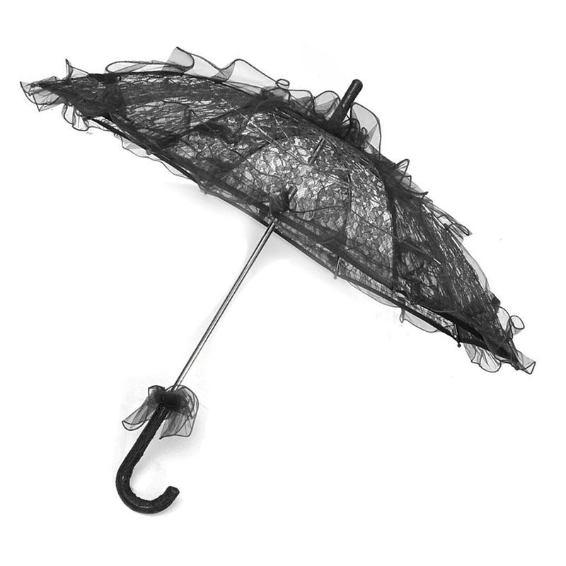 Dentelle-Ombrelle-De-Mariee-Fleur-Lace-Mariage-Mariee-Parapluie-Parasol-Z3M4 miniature 9