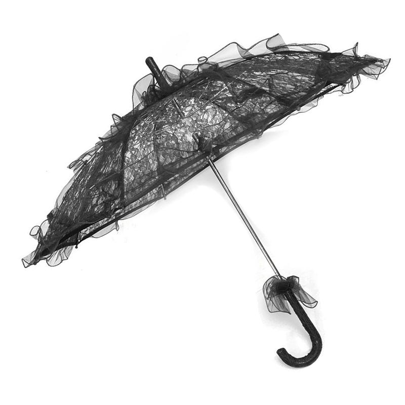 Dentelle-Ombrelle-De-Mariee-Fleur-Lace-Mariage-Mariee-Parapluie-Parasol-Z3M4 miniature 10