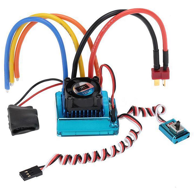 10X (120 A Controlador de Velocidad sin escobillas Sensored ESC para RC 1/8 1/10 1/12 coche CG7O9)
