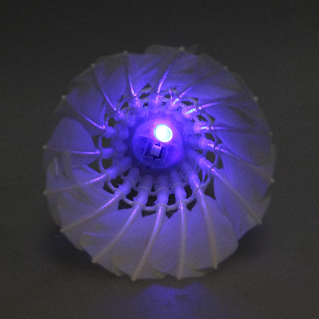 dunkle Nacht Badminton mit LED Beleuchtung Federbaelle Multifarben L8G2 5
