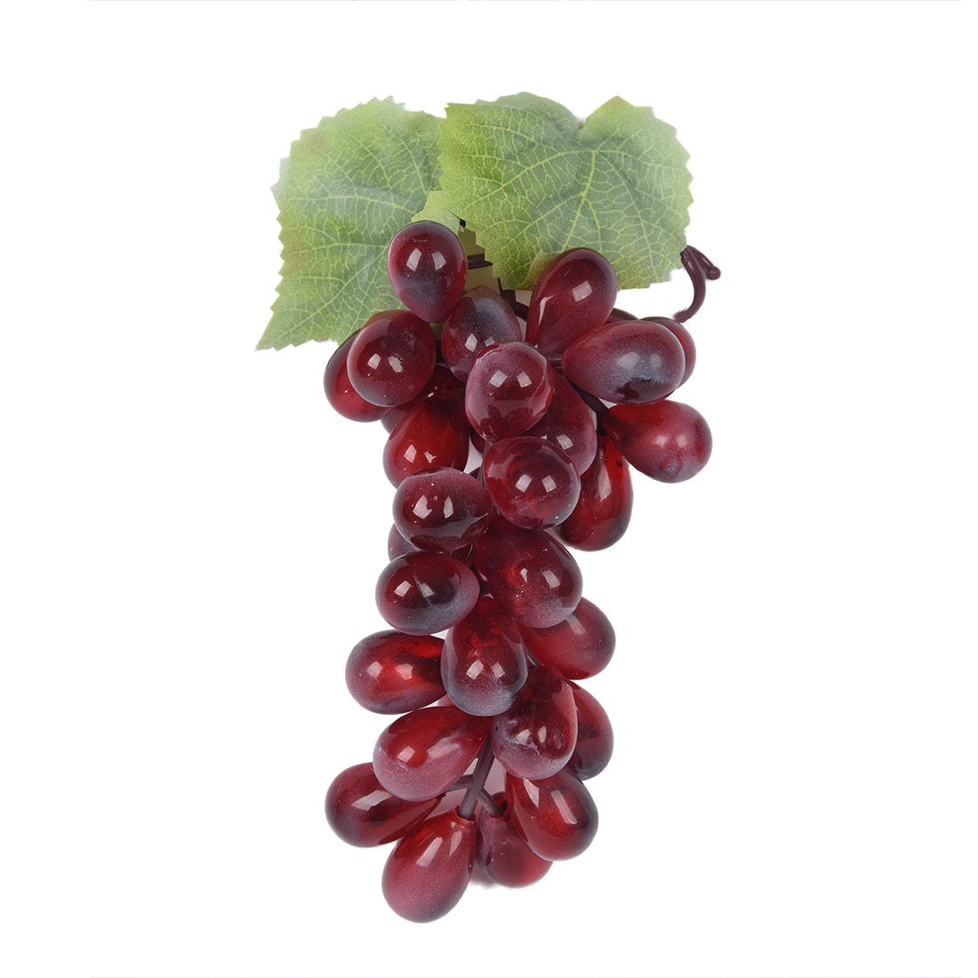 Purple plastic artificial grapes cluster fruit decor desk for Decoration fruit