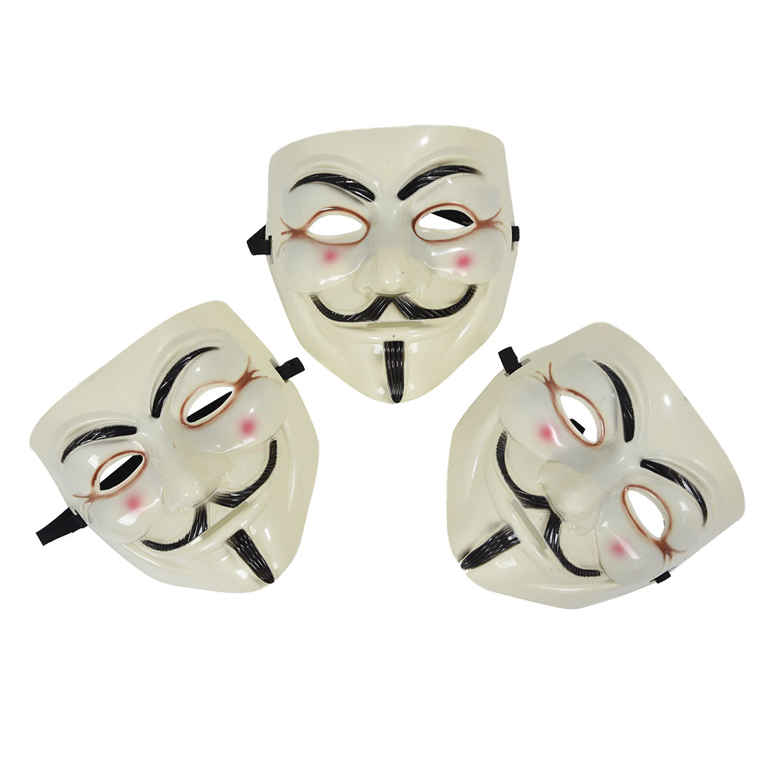 2x guy fawkes maske v wie for vendetta mask beige package of 3 me ebay. Black Bedroom Furniture Sets. Home Design Ideas