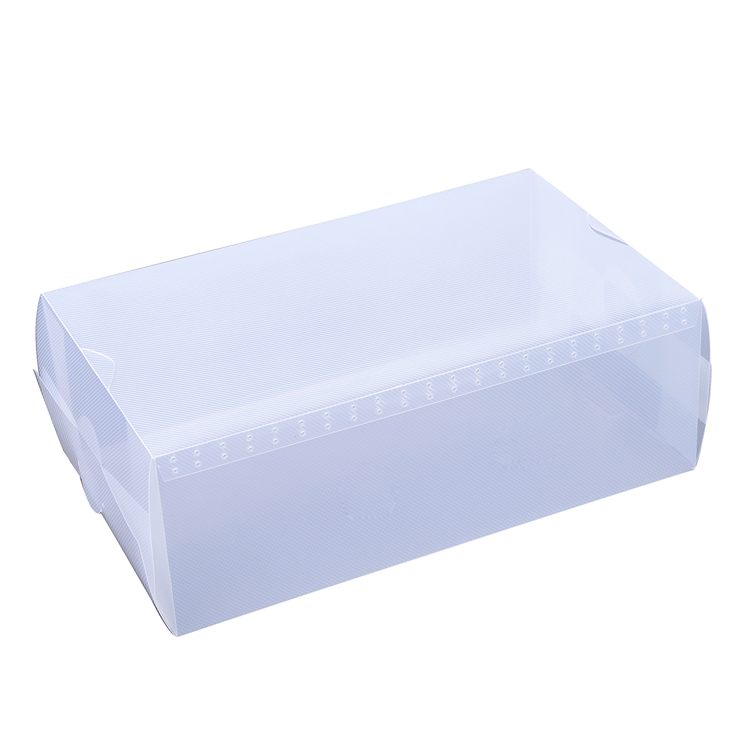 5 x clear plastic mens shoe storage boxes containers