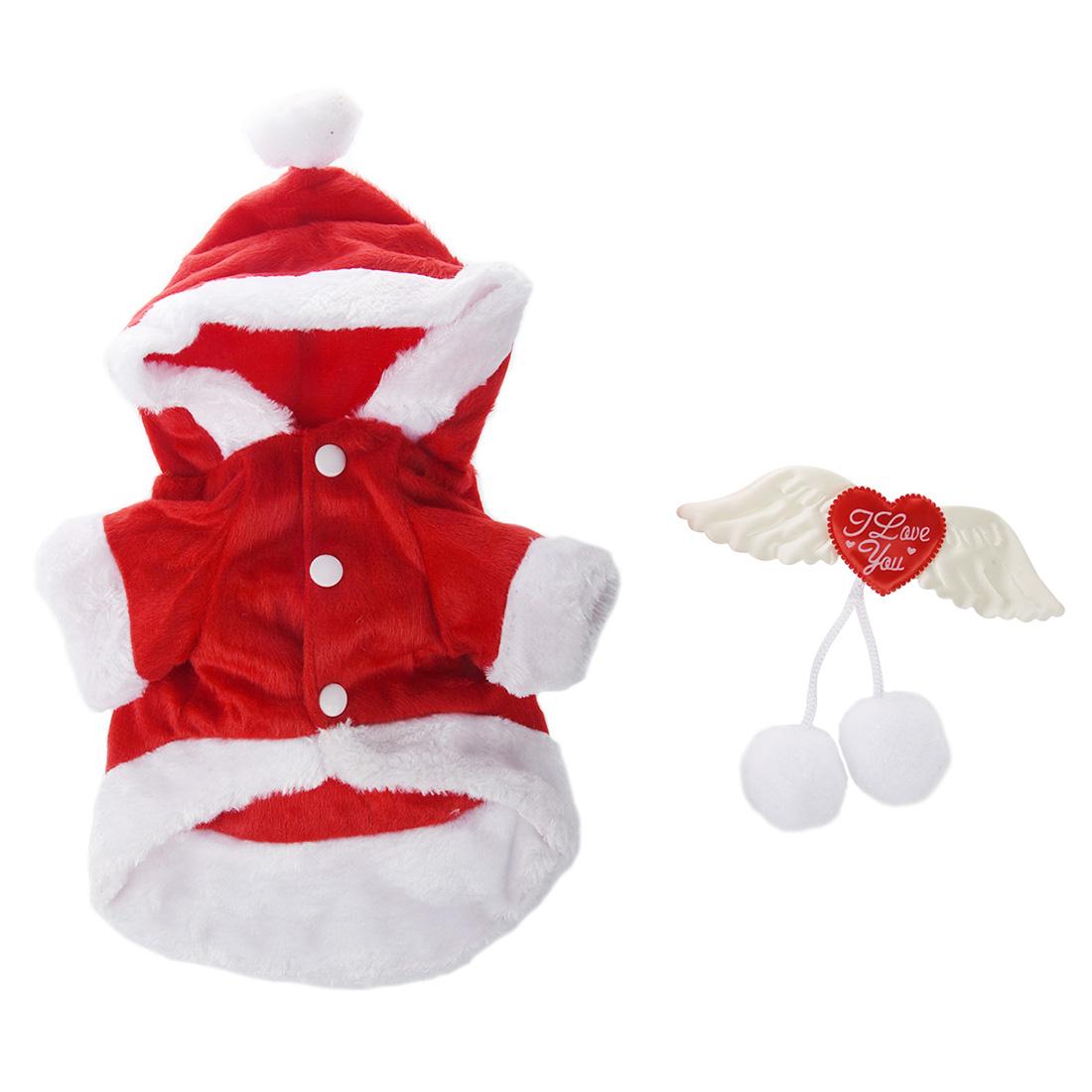 noel ange aile chien veste costume de pere noel fantaisie cadeaux d 39 animaux wt ebay. Black Bedroom Furniture Sets. Home Design Ideas