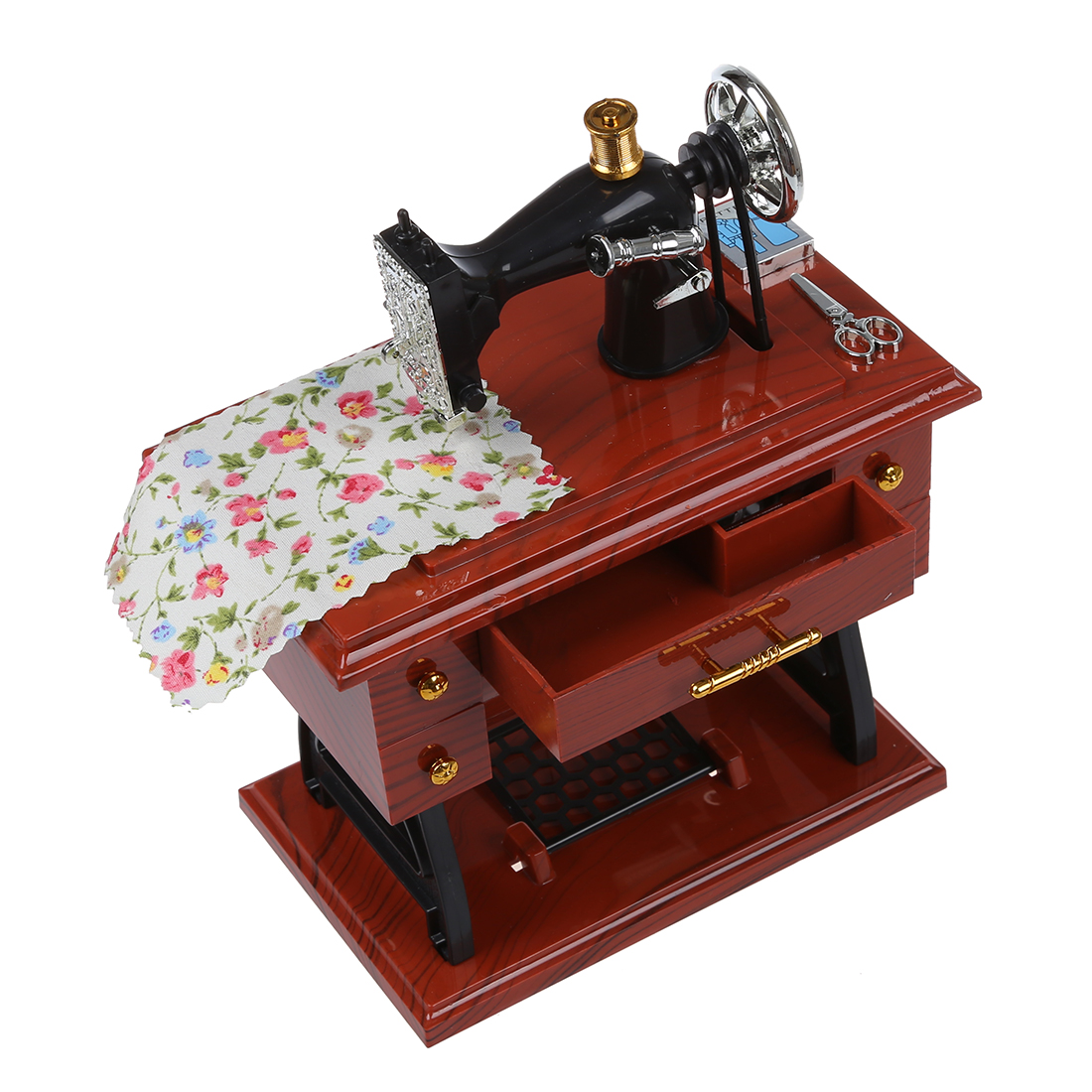 Wind up vintage mini machine a coudre style boite a for Boite machine a coudre