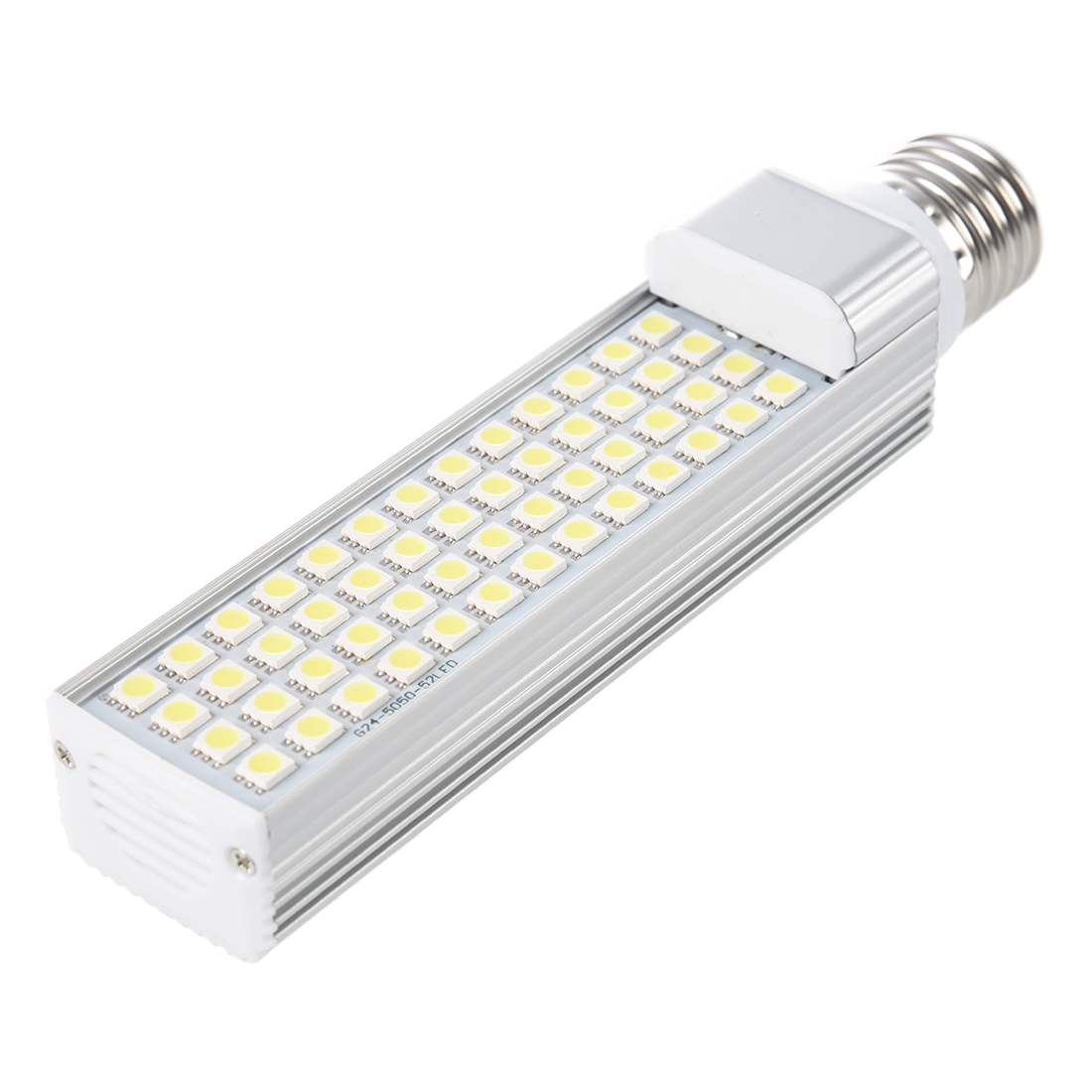 E27 52 5050 smd led portalampada 11w ac 85 265v bianco for Portalampada led