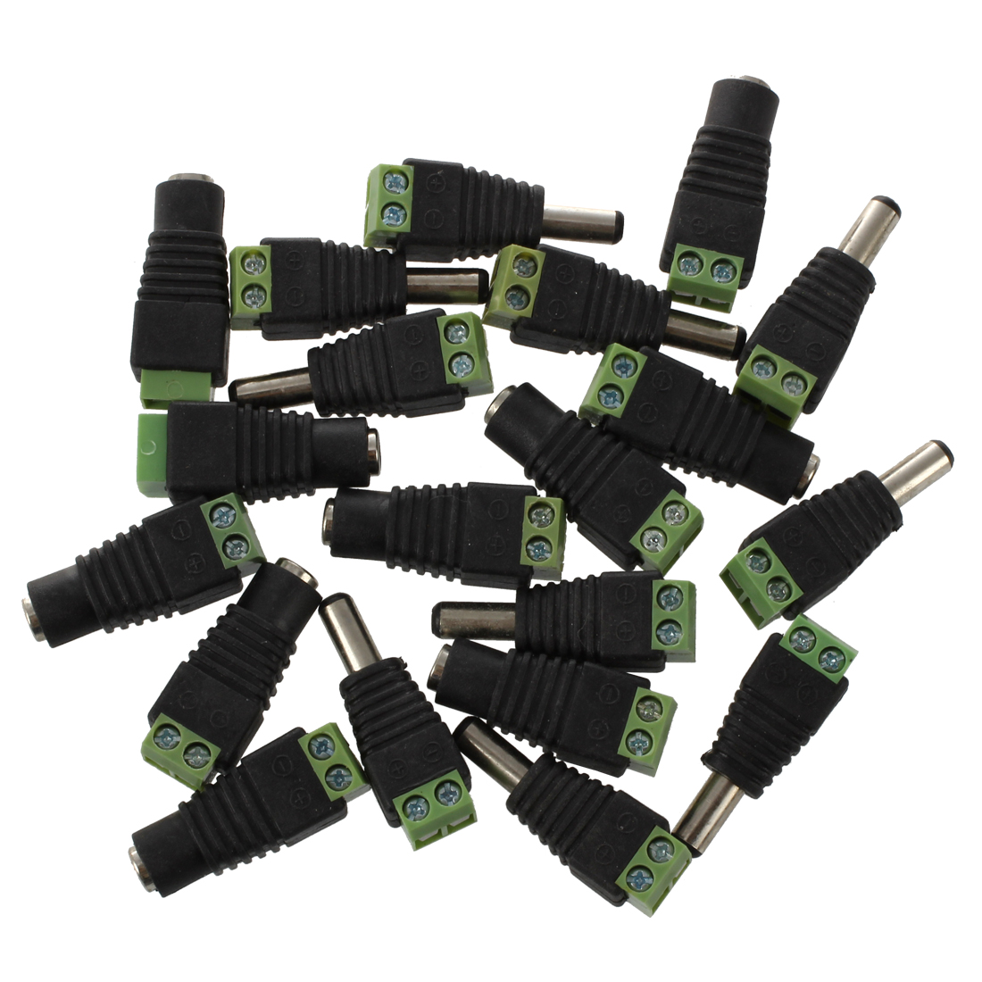 10 Paar DC Buchse DC Stecker Schraubstecker Schraubklemmen Adapter 2.1x5.5mm J5