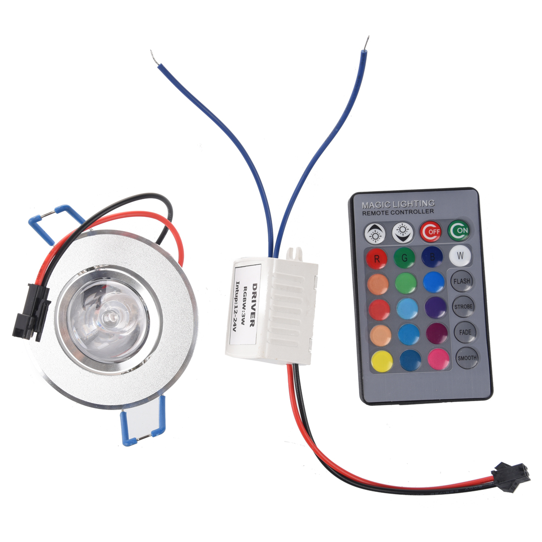 3W LED Recessed Downlight Ceiling Lamp Spotlight RGB With