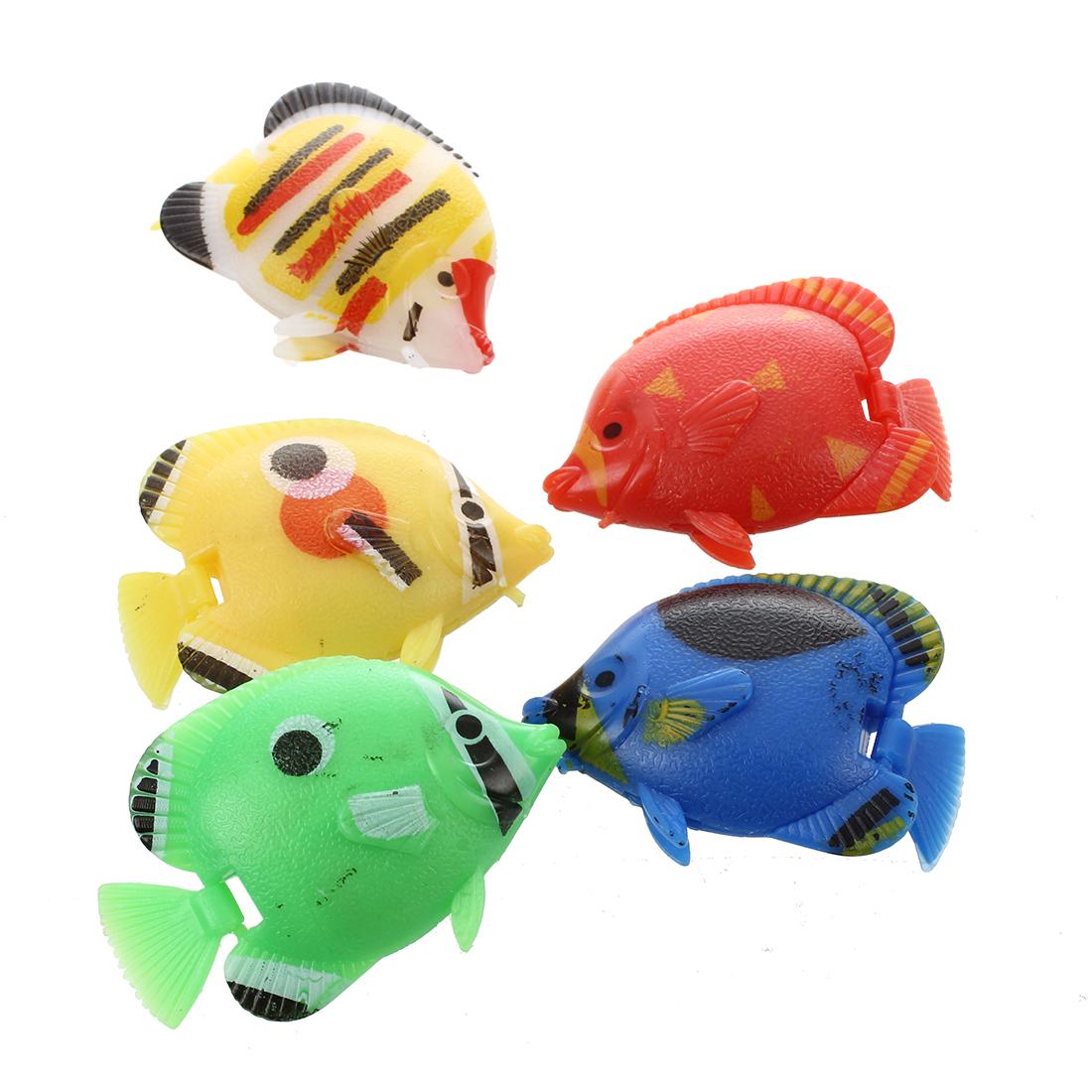 Aquarium Artificial Movable Tail Swimming Fish 5 Pcs N3 Ebay