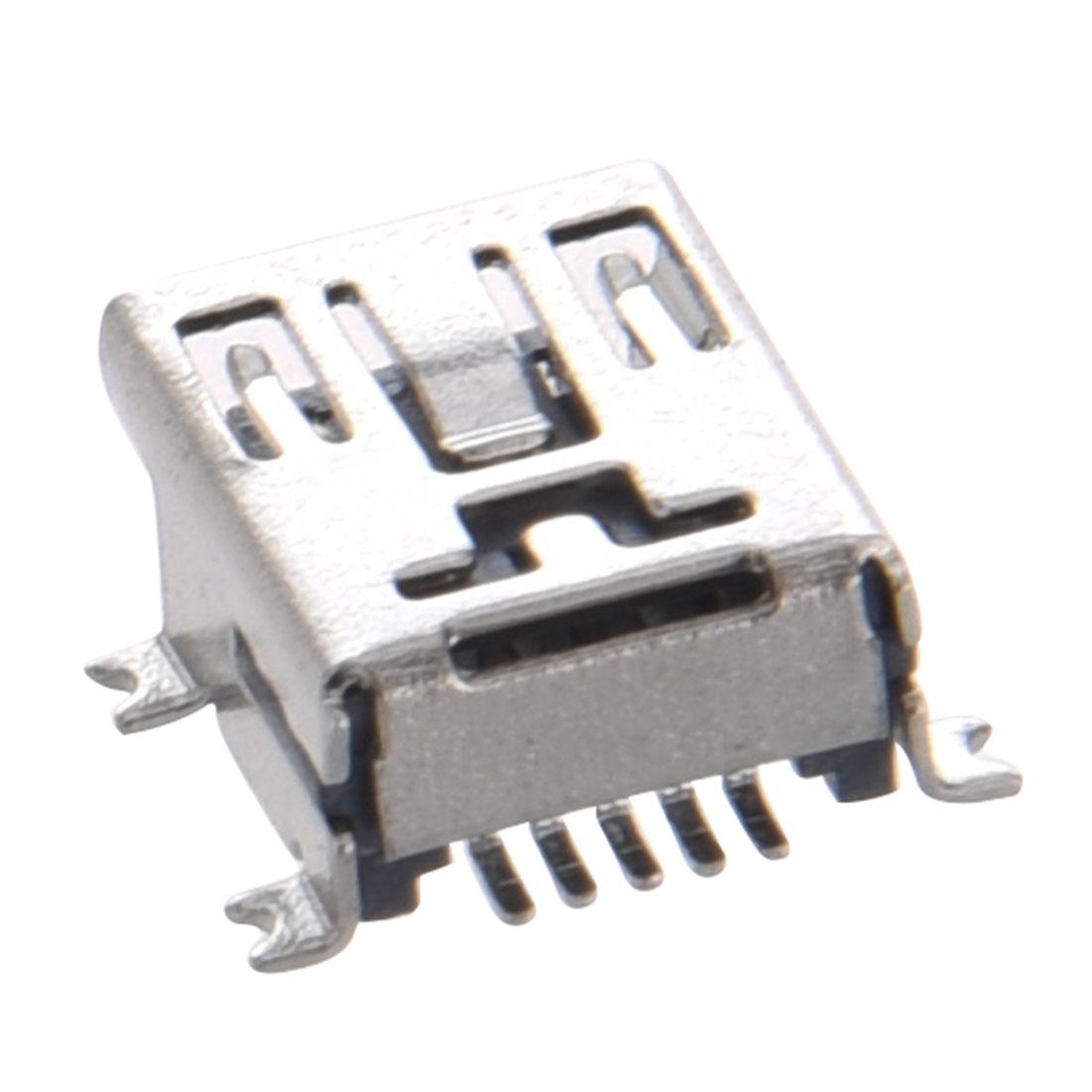 5 Pz Mini Usb Type B Femminile Porta 5 Pin 180 Gradi Smd
