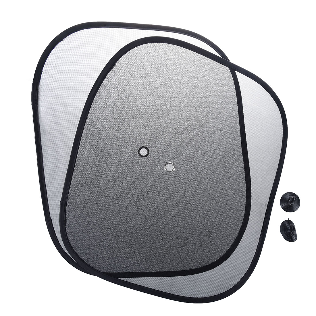 2 stueck auto seitenscheibe netz sonnenschutz schwarz. Black Bedroom Furniture Sets. Home Design Ideas