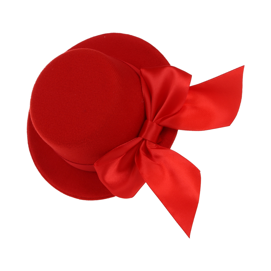 33e0ac467 Details about Ladies Mini Top Hat Fascinator Burlesque Millinery w/ Bowknot  - Red G6P4
