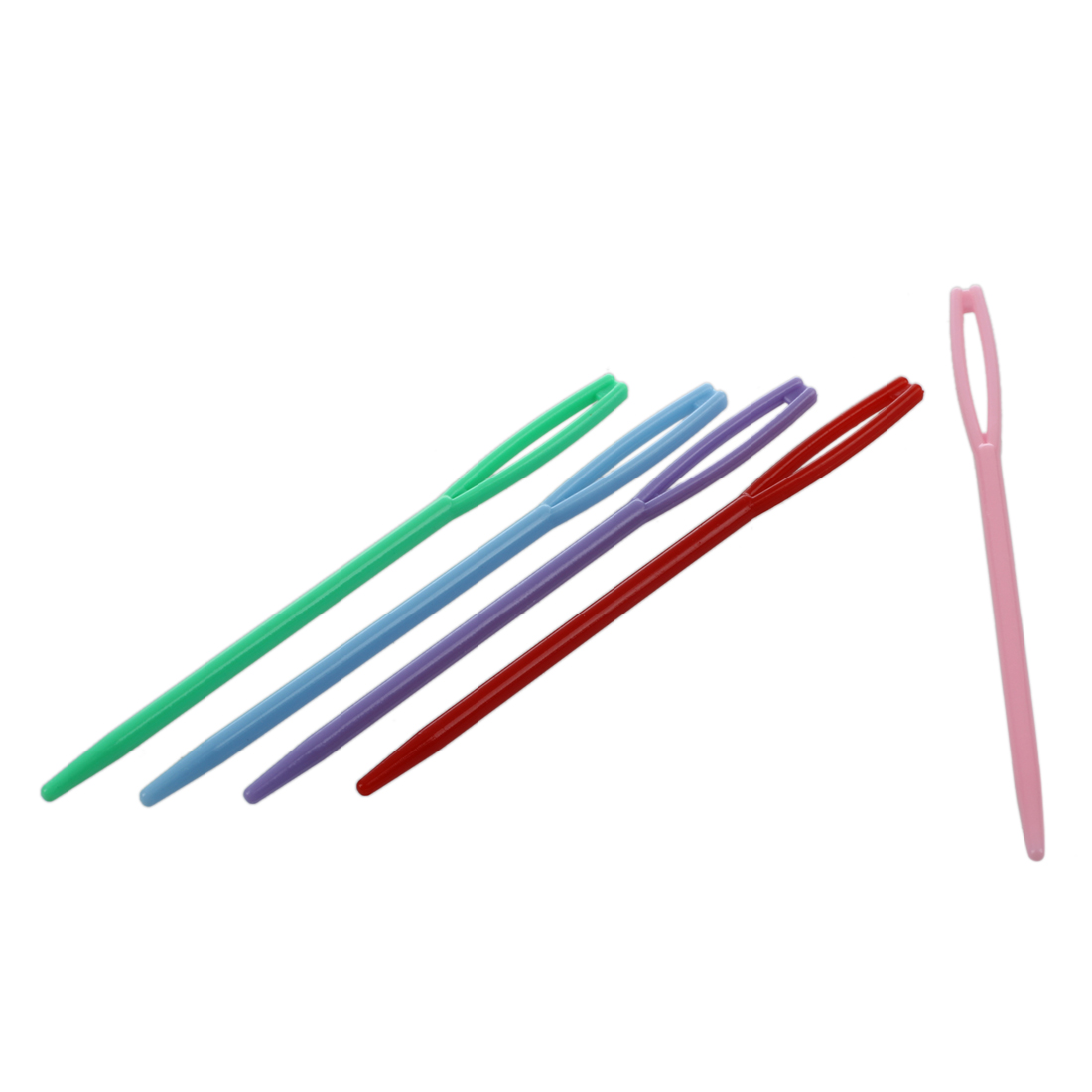 Details about   10Pcs Cute Children's Plastic Needles for Sewing Size Small Large F9T3