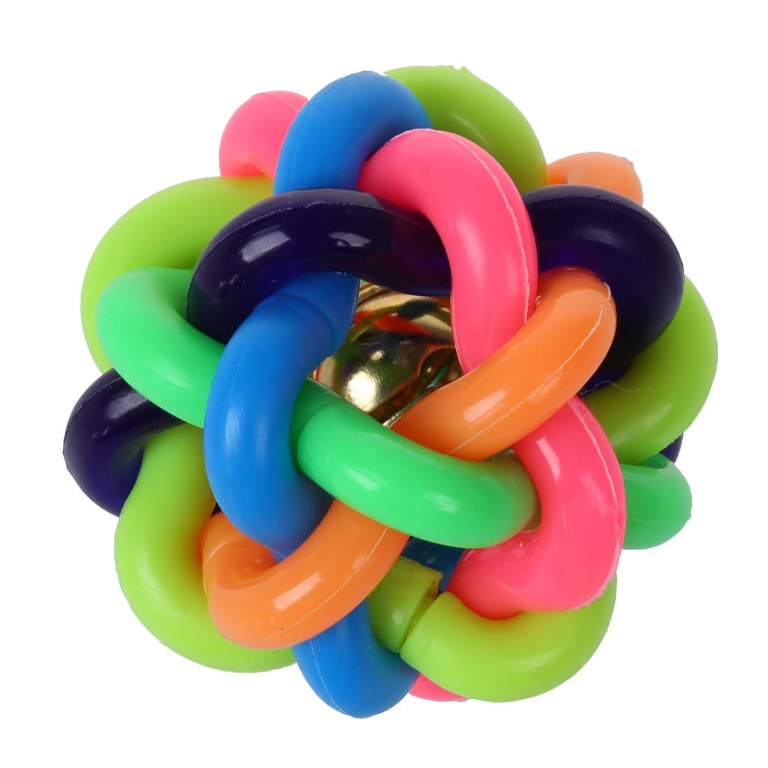 Arco iris de goma bola para mascotas de bell del juguete for Bola juguete