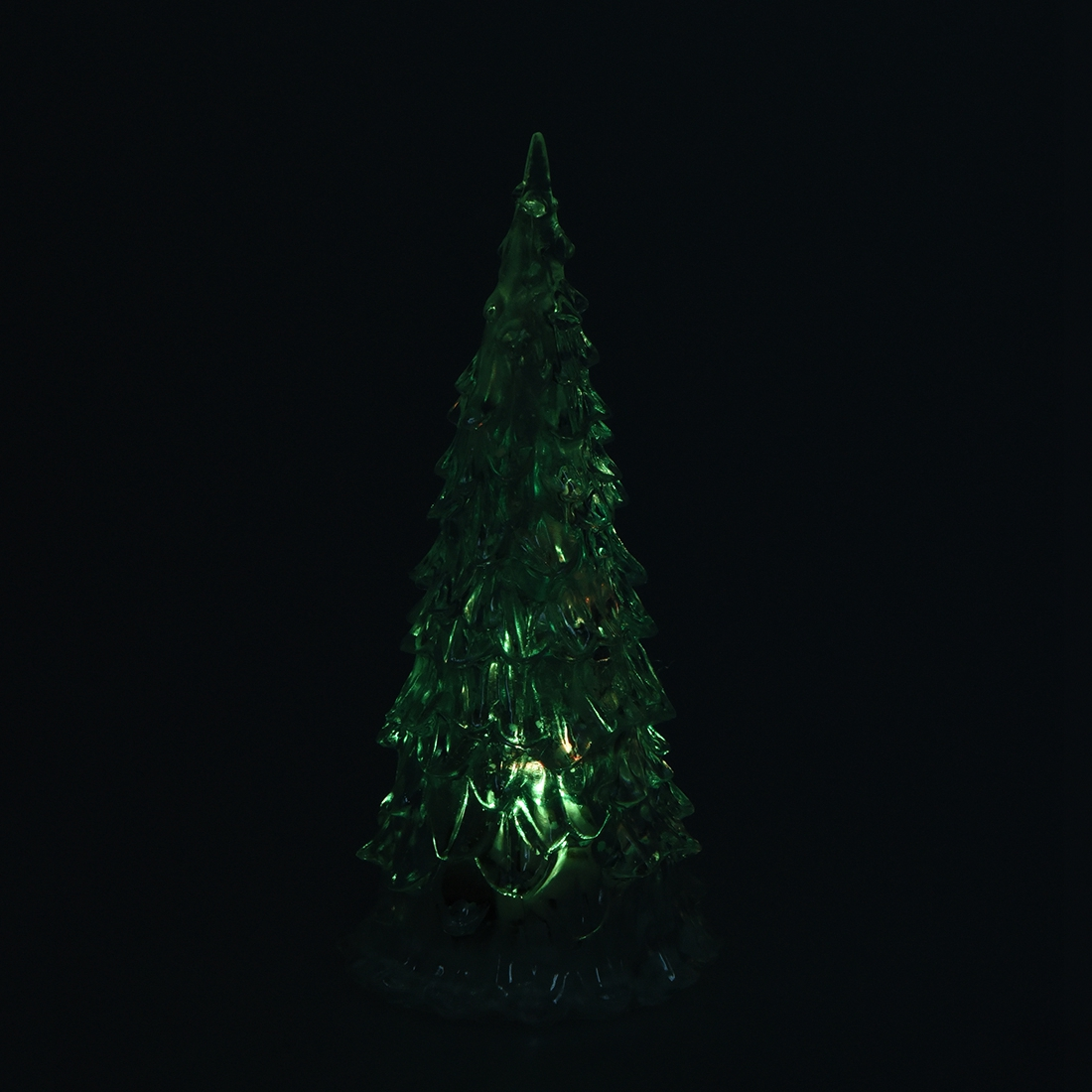 Color Changing Led Artificial Crystal Decoration Xmas