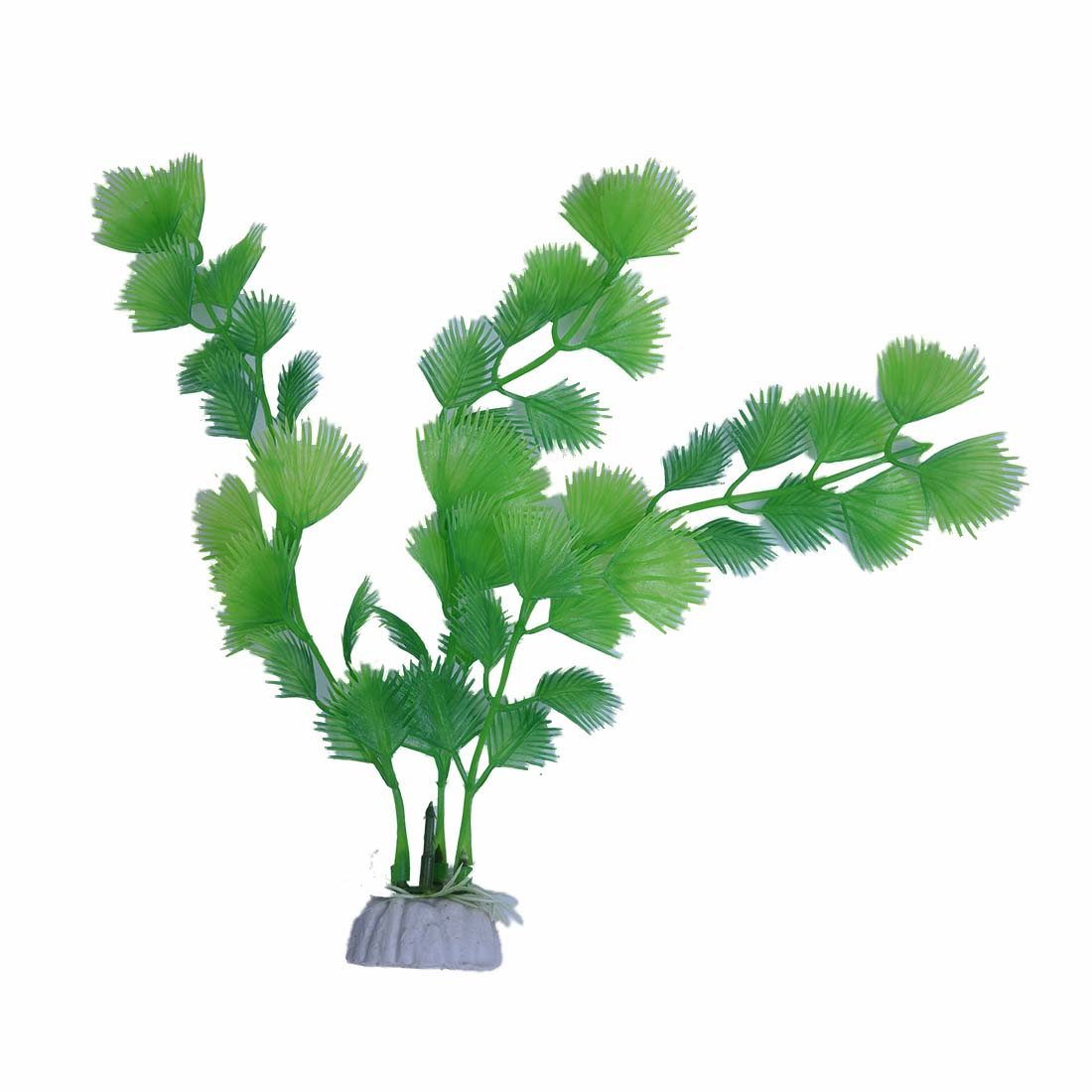 5x plante artificielle vert en plastique decoration aquarium d5p7 ebay. Black Bedroom Furniture Sets. Home Design Ideas