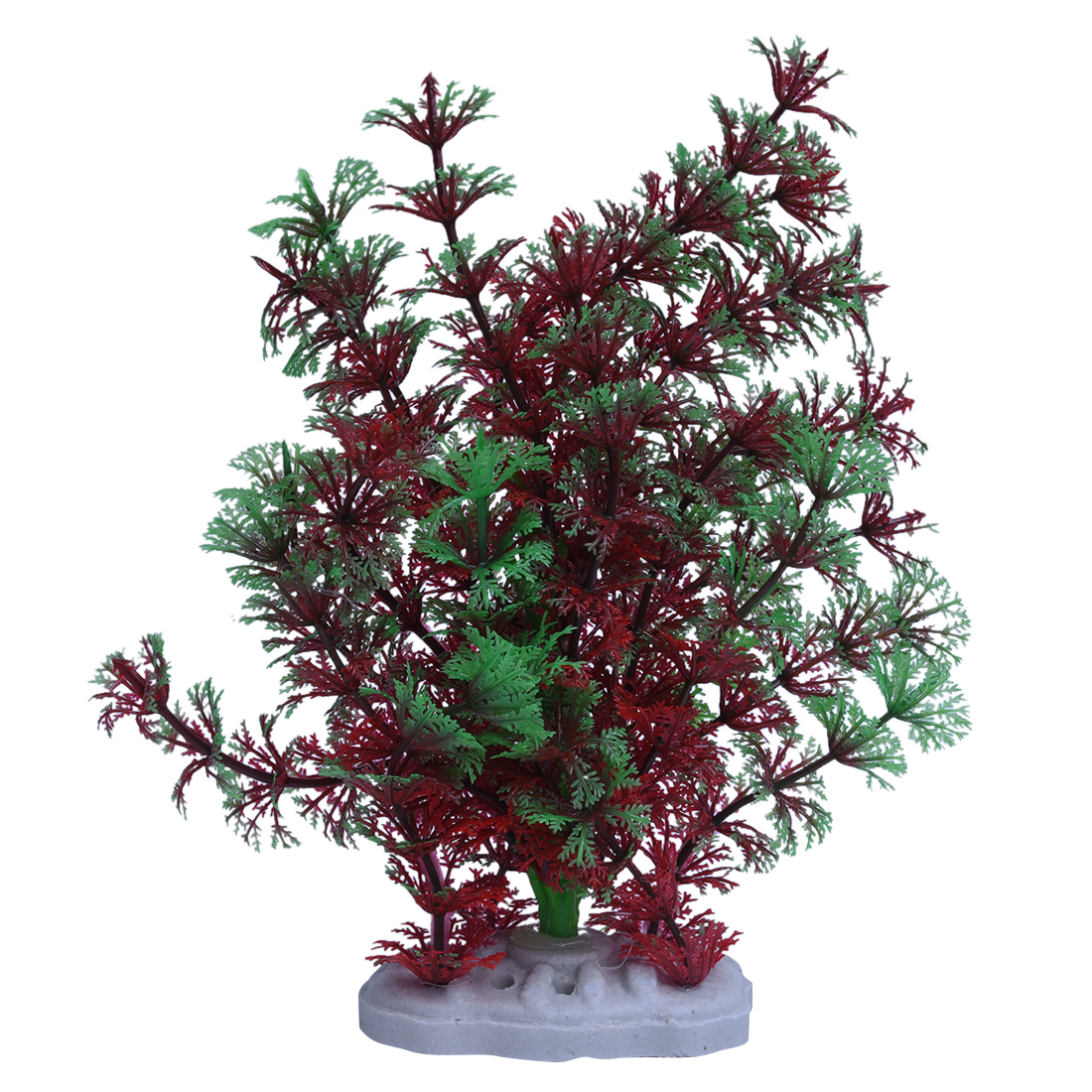 Red green artificial plastic water plants for fish tank for Aquarium decoration uk